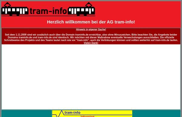 Vorschau von www.tram-info.de, Tram-Info