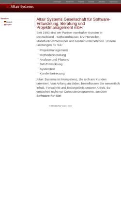 Vorschau der mobilen Webseite www.altairsystems.de, Altair Systems GmbH