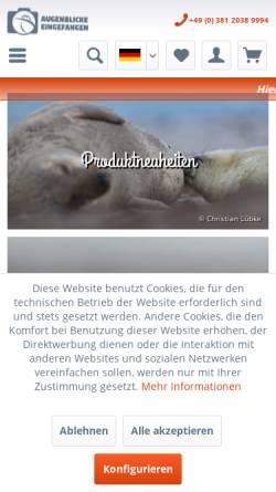 Vorschau der mobilen Webseite www.augenblicke-eingefangen.de, Lübke, Christian