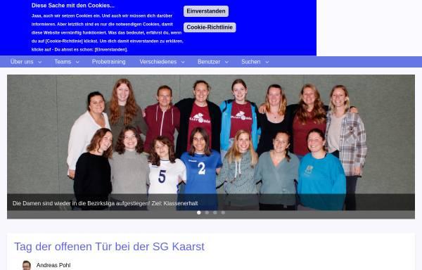 Vorschau von www.sg-kaarst-volleyball.de, SG Kaarst