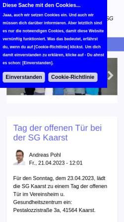 Vorschau der mobilen Webseite www.sg-kaarst-volleyball.de, SG Kaarst