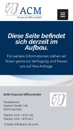 Vorschau der mobilen Webseite www.widerruf-ihrer-lebensversicherung.de, ACM Advanced Capital Management AG