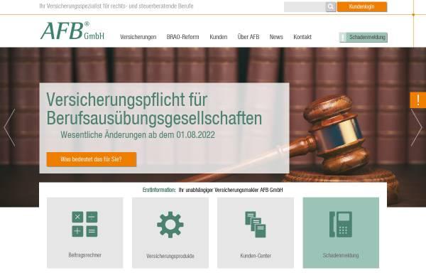Vorschau von www.afb24.de, AFB Assekuranz Freier Berufe GmbH