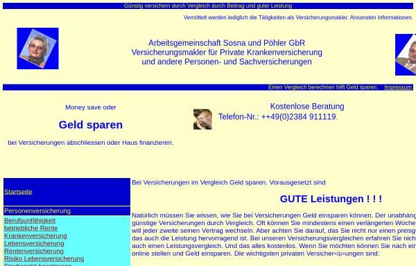 Vorschau von www.vers25.de, Arbeitsgemeinschaft Sosna und Pöhler GbR