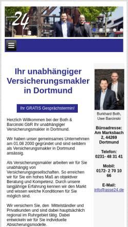 Vorschau der mobilen Webseite www.asse24.de, Burkhard Both & Uwe Barcinski GbR