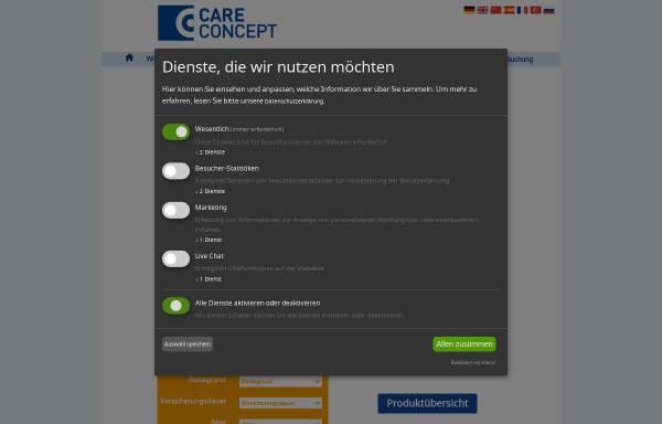 Vorschau von www.care-concept.de, Care Concept AG