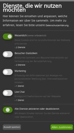 Vorschau der mobilen Webseite www.care-concept.de, Care Concept AG