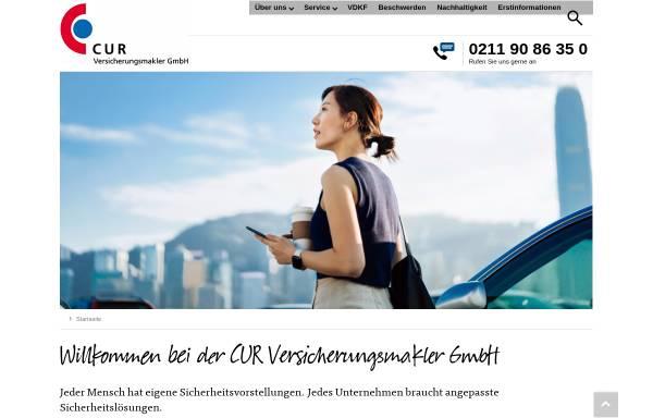 Vorschau von www.cur-vm.de, Cur Versicherungsmakler GmbH