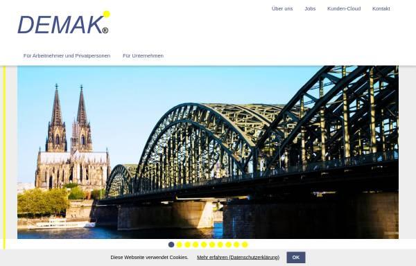 Vorschau von www.demak.de, DEMAK Assekuranzmakler, Inh. Vers.-Betriebswirt Detlef M. Klotz