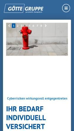 Vorschau der mobilen Webseite www.goette-gruppe.de, Götte-Gruppe