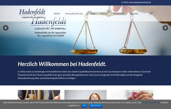 Vorschau von www.hadenfeldt.de, Hadenfeldt GmbH
