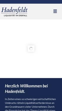 Vorschau der mobilen Webseite www.hadenfeldt.de, Hadenfeldt GmbH