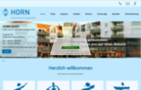 Vorschau von www.horn-koeln.de, Horn GmbH Freier Finanz- und Versicherungsmakler