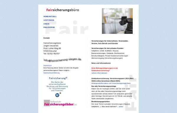 Vorschau von www.fairsicherung-siegen.de, Jürgen Jewanski