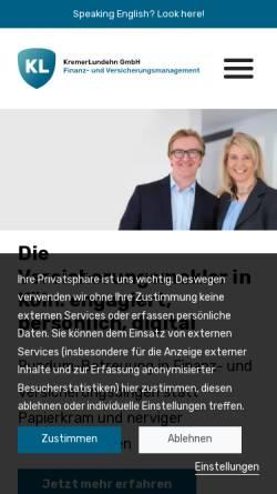 Vorschau der mobilen Webseite www.kremerlundehn.de, KremerLundehn Assekuranz-Makler GmbH