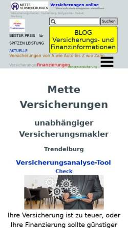 Vorschau der mobilen Webseite www.3lv.de, Martin Mette