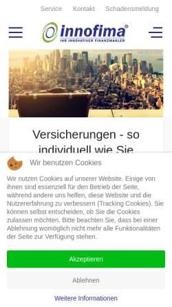 Vorschau der mobilen Webseite www.innofima.de, Müssig & Jung OHG
