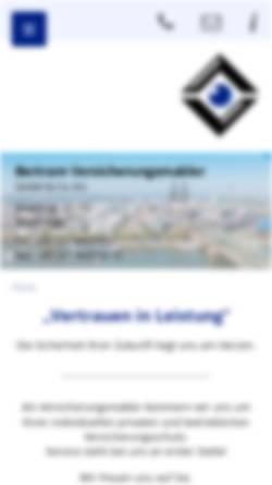 Vorschau der mobilen Webseite bertram-versicherungsmakler.de, Peter Bertram Versicherungsmakler GmbH