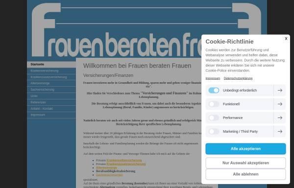 Vorschau von www.frauenberatenfrauen.com, Renate Freund Versicherungen