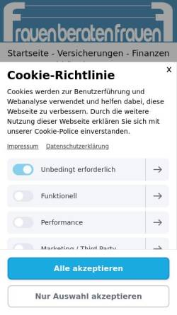 Vorschau der mobilen Webseite www.frauenberatenfrauen.com, Renate Freund Versicherungen