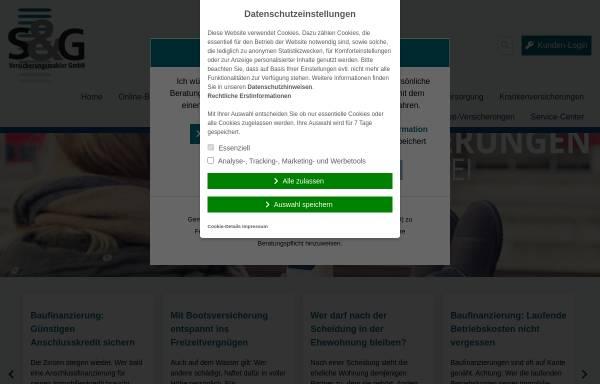 Vorschau von www.sundg.de, S & G Versicherungsmakler GmbH