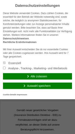Vorschau der mobilen Webseite www.sundg.de, S & G Versicherungsmakler GmbH