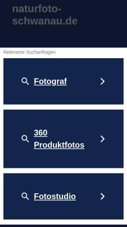 Vorschau der mobilen Webseite www.naturfoto-schwanau.de, Sauer, Michael