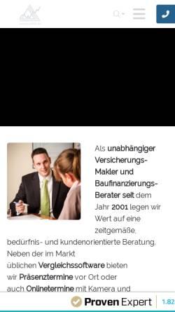 Vorschau der mobilen Webseite www.ufkb.de, UFKB Unabhängige Finanz Konzept Beratung GmbH