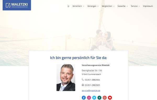 Vorschau von www.maletzki.de, Versicherungsservice Maletzki, Inh. Dirk Maletzki