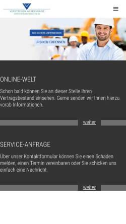 Vorschau der mobilen Webseite www.versteegen.de, Versteegen Assekuranz Versicherungsmakler AG