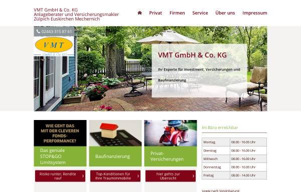 Vorschau von www.vmt-makler.de, VMT Finanz- und Versicherungsservice Franz-Josef Thelen
