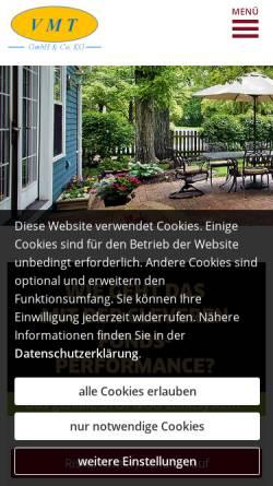 Vorschau der mobilen Webseite www.vmt-makler.de, VMT Finanz- und Versicherungsservice Franz-Josef Thelen