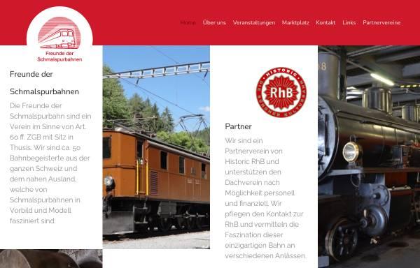 Vorschau von www.schmalspur.ch, Freunde der Schmalspurbahnen