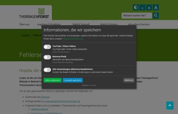Vorschau von www.thueringen.de, Thüringer Landesforstverwaltung