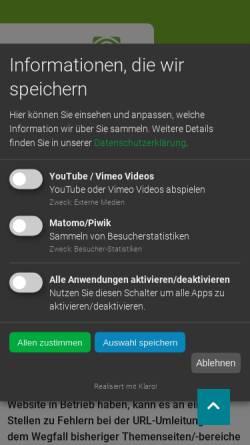 Vorschau der mobilen Webseite www.thueringen.de, Thüringer Landesforstverwaltung