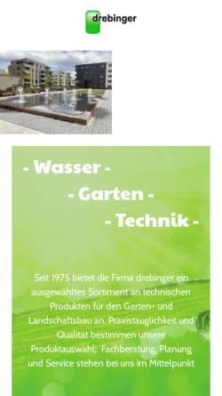 Vorschau der mobilen Webseite www.drebinger.by, Drebinger Gartentechnik