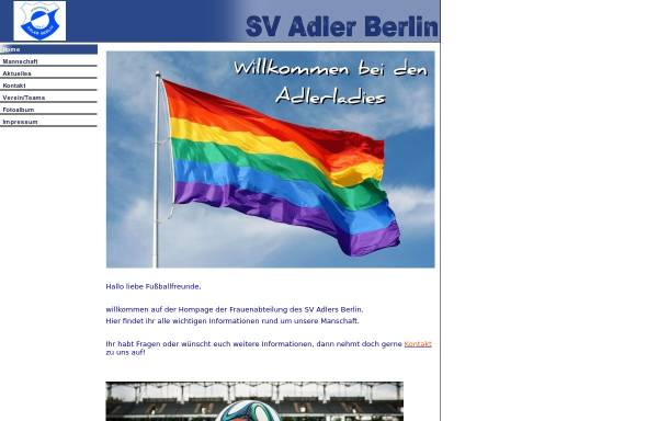 Vorschau von www.sv-adler-ladies.de, SV Adler Berlin - Frauenfußball