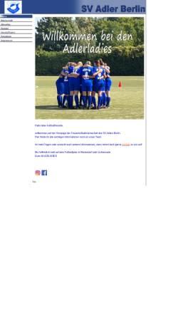 Vorschau der mobilen Webseite www.sv-adler-ladies.de, SV Adler Berlin - Frauenfußball