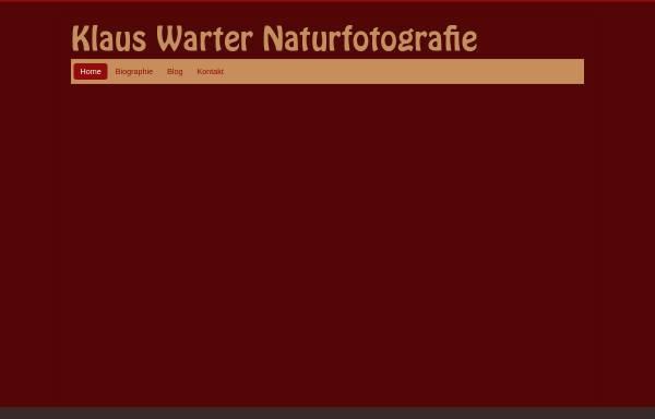Vorschau von warter-naturfoto.de, Warter, Klaus