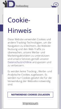 Vorschau der mobilen Webseite www.booxonline.de, Art und Spiel - Buchhandlung Pörksen
