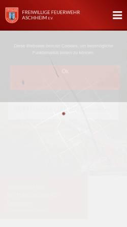 Vorschau der mobilen Webseite www.feuerwehr-aschheim.de, Freiwillige Feuerwehr Aschheim e.V.