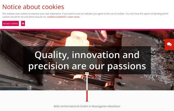 Vorschau von www.bew-westheim.de, BEW Umformtechnik GmbH