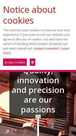 Vorschau der mobilen Webseite www.bew-westheim.de, BEW Umformtechnik GmbH