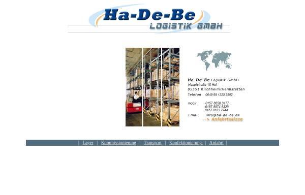 Vorschau von www.ha-de-be.de, Ha-De-Be Logistik GmbH