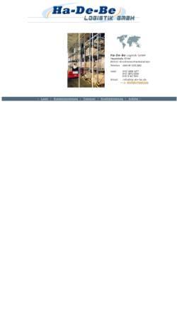 Vorschau der mobilen Webseite www.ha-de-be.de, Ha-De-Be Logistik GmbH