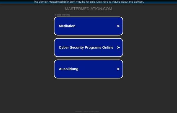 Vorschau von www.mastermediation.com, Mag. Dr. Gerhard Falk - IWM, Intensivlehrgang Wirtschaftsmediation