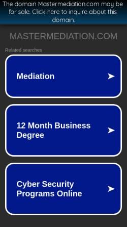 Vorschau der mobilen Webseite www.mastermediation.com, Mag. Dr. Gerhard Falk - IWM, Intensivlehrgang Wirtschaftsmediation