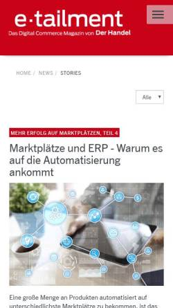 Vorschau der mobilen Webseite www.cybiz.de, CYbiz.de