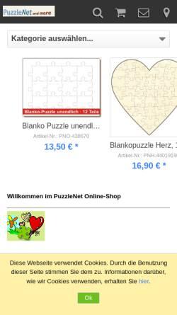 Vorschau der mobilen Webseite www.puzzle-net.de, PuzzleNet, Klaus Skupch