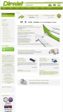 Vorschau der mobilen Webseite www.diprint.de, Diprint GmbH